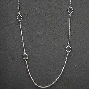 """SILPADA .925 silver cubic zirconia 34"""" necklace"""